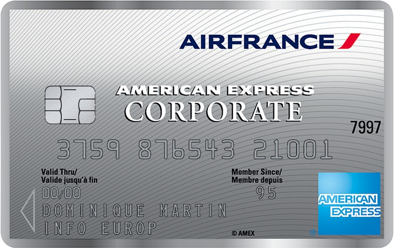 Carte American Express.Air France American Express Solutions De Paiement Pro Corporate