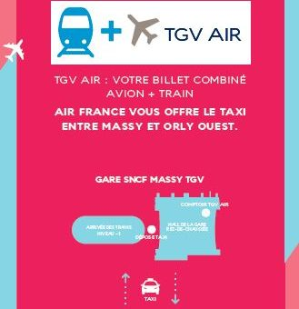 TGV AIR Orly via Massy étendu à de nouvelles gares