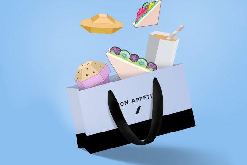 Le sac «Bon Appétit» d'Air France sur les vols Long Courriers