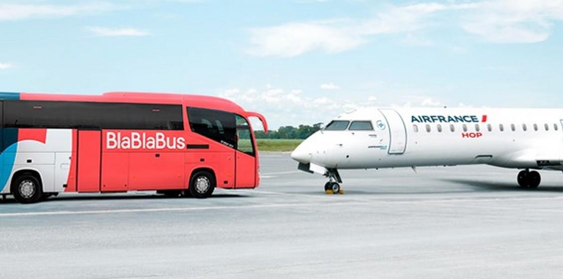 Air France vous propose un voyage combiné Avion + Bus en partenariat avec BlaBlaBus