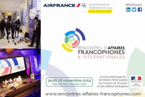 Air France vous invite aux Rencontres d'Affaires Francophones le 28 Novembre 2019 à Paris