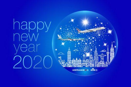 Le groupe Air France-KLM vous souhaite une très belle année de voyages 2020