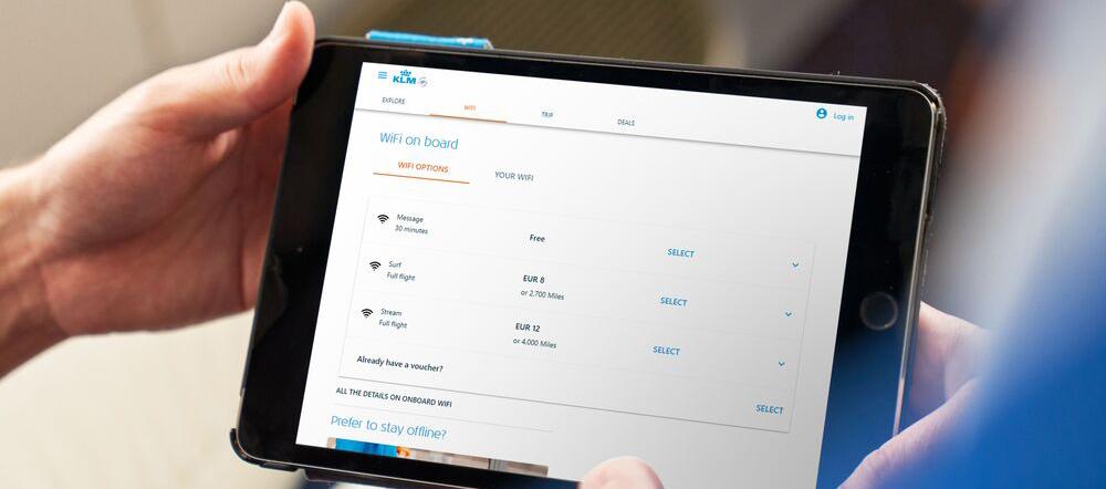 Wi-Fi sur plus de vols KLM et Delta Air Lines
